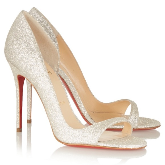 quality top design so cheap • Christian Louboutin • Toboggan 100 Glitter Heels